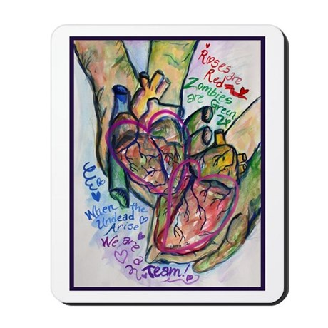 Zombie Love Poem Mousepad