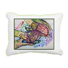 Zombie Love Poem Rectangular Canvas Pillow
