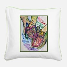 Zombie Love Poem Square Canvas Pillow