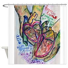 Zombie Love Poem Shower Curtain