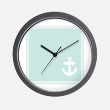 Mint Anchor square Wall Clock