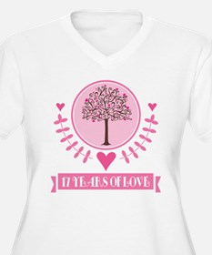 17th Anniversary Love Tree T-Shirt