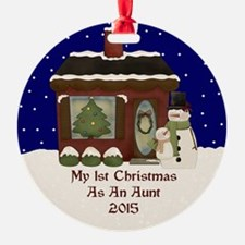 1St Christmas As An Aunt 2015 Ornament