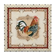 Vintage Rooster Country French Watercolor Cream Ti