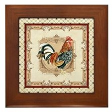 Vintage Rooster Country French Watercolor Cream Fr