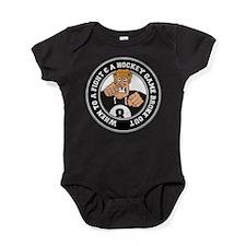 Funny Hockey Player Baby Bodysuit