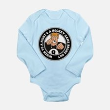 Funny Hockey Player Long Sleeve Infant Bodysuit