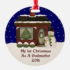 1St Christmas As A Godmother 2016 Ornament