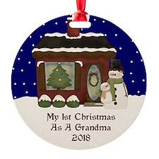 1St Christmas As A Grandma 2018 Ornament