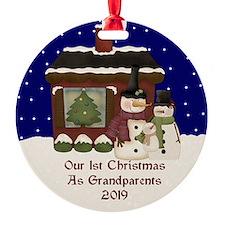 1St Christmas As Grandparents 2019 Ornament