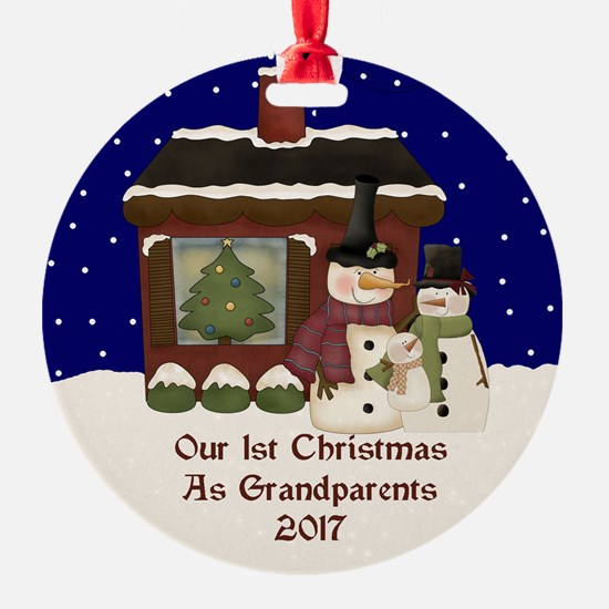 1St Christmas As Grandparents 2017 Ornament