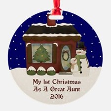 1St Christmas As A Great Aunt 2016 Ornament