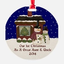 1St Christmas Great Aunt And Uncle 2014 Ornament