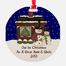 1St Christmas Great Aunt And Uncle 2013 Ornament