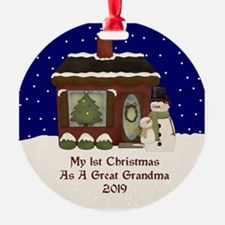 1St Christmas As A Great Grandma 2019 Ornament