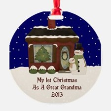 1St Christmas As A Great Grandma 2013 Ornament