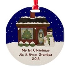 1St Christmas As A Great Grandpa 2018 Ornament