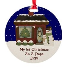 1St Christmas As A Papa 2019 Ornament