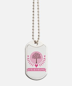 13th Anniversary Love Tree Dog Tags
