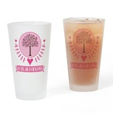 13th Anniversary Love Tree Drinking Glass