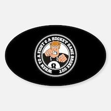 Funny Hockey Player Sticker (Oval)