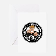 Funny Hockey Player Greeting Card