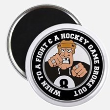 Funny Hockey Player Magnet