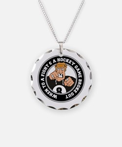 Funny Hockey Player Necklace