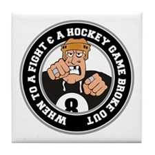 Funny Hockey Player Tile Coaster