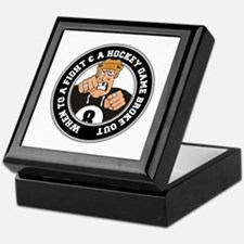 Funny Hockey Player Keepsake Box