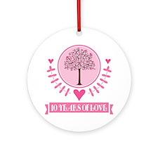 10th Anniversary Love Tree Ornament (Round)