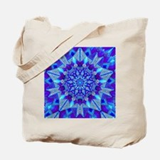 Blue and Purple Patterned Star Tote Bag