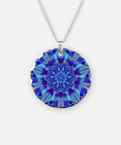 Blue and Purple Patterned St Necklace