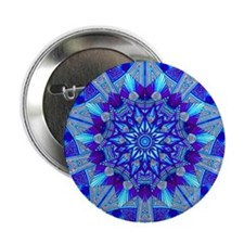 """Blue and Purple Patterned Star 2.25"""" Button"""