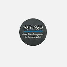 Chalkboard Retired Under New Management Mini Butto