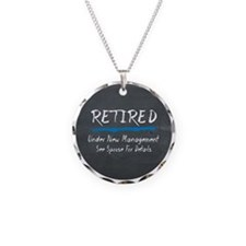 Chalkboard Retired Under New Management Necklace