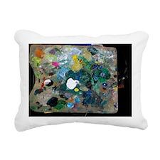 Black Palette Black  Rectangular Canvas Pillow