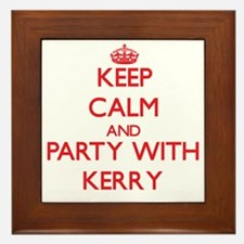 Keep Calm and Party with Kerry Framed Tile
