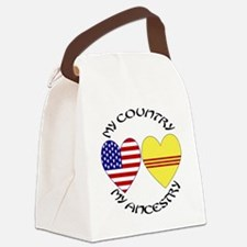 Vietnam Country Heritage - Black Canvas Lunch Bag