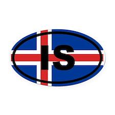 Iceland flag Oval Car Magnet