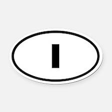 Italy I Oval Car Magnet