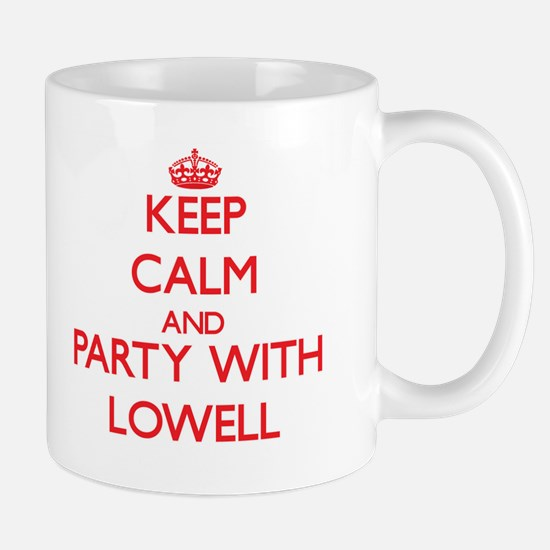 Keep Calm and Party with Lowell Mugs
