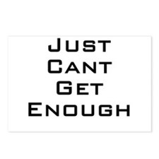 I just can't get enough Postcards (Package of 8)