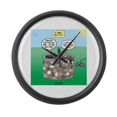 Tinkles Saves the Day Large Wall Clock