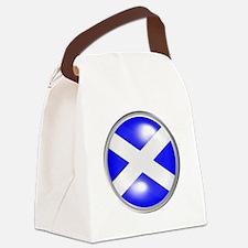 Surreal Cabochon Scotland Flag Canvas Lunch Bag