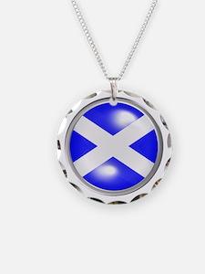 Surreal Cabochon Scotland Fl Necklace