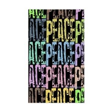 Peace Rectangle Decal