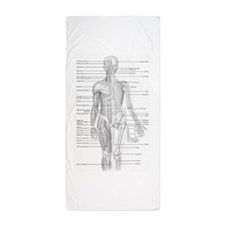 Dr Human Body Beach Towel