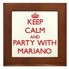 Keep Calm and Party with Mariano Framed Tile