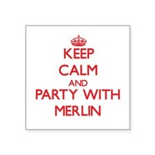 Keep Calm and Party with Merlin Sticker